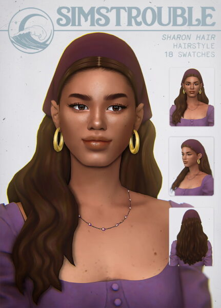 Simstrouble: Sharon Hair for Sims 4