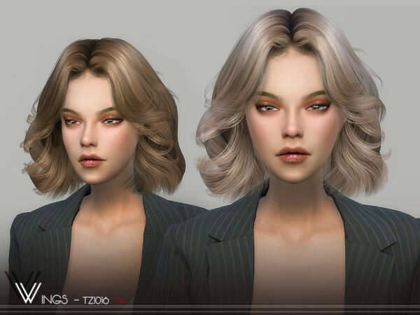 The Sims Resource: WINGS TZ1016 hair for Sims 4