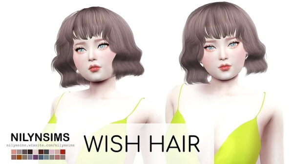 The Sims Resource: Wish Hair for Sims 4