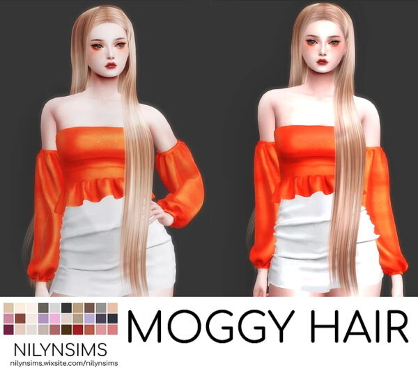 Nilyn Sims 4: Moggy Hairstyle for Sims 4