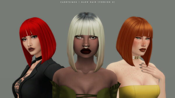 Candy Sims 4: Glow Hairstyle for Sims 4