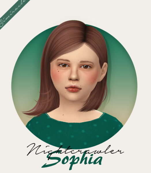 Simiracle: Nightcrawler`s Sophia Hairstyle Retextured   Girls Versions for Sims 4