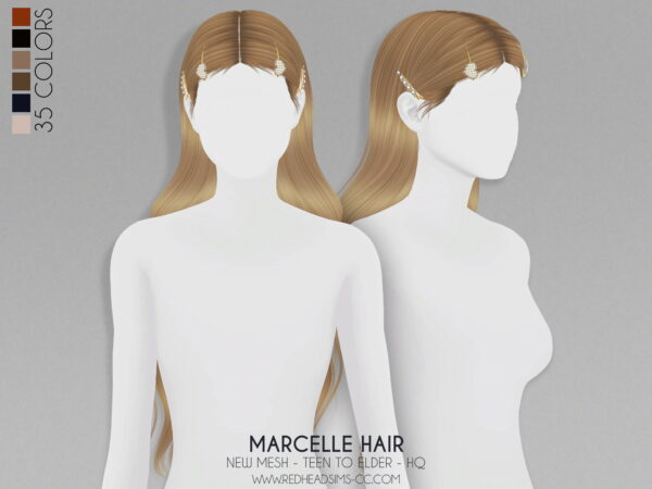 Coupure Electrique: Marcelle Hairstyle Kids And Toddlers Versions for Sims 4