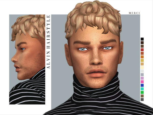 The Sims Resource: Alvin Hairstyle by Merci for Sims 4