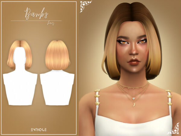 The Sims Resource: Banks Hairstyle by Enriques4 for Sims 4