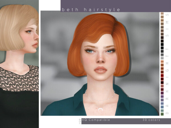 The Sims Resource: Beth Hairstyle by DarkNighTt for Sims 4