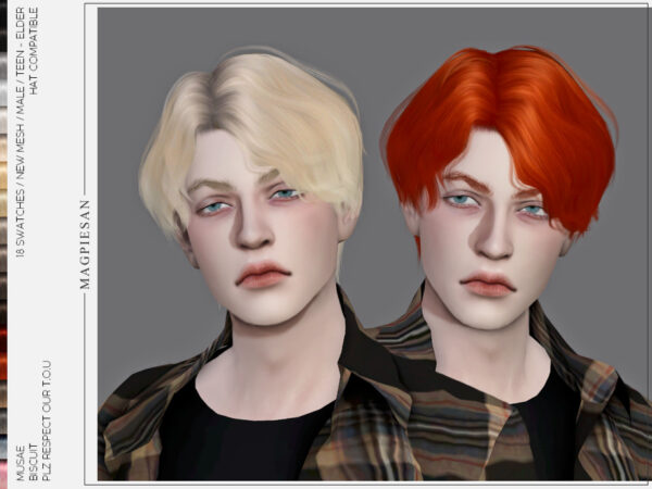 Sims 4 Hairstyles For Males Sims 4 Hairs Cc Downloads