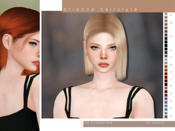 The Sims Resource: Brienne Hairstyle by DarkNighTt for Sims 4