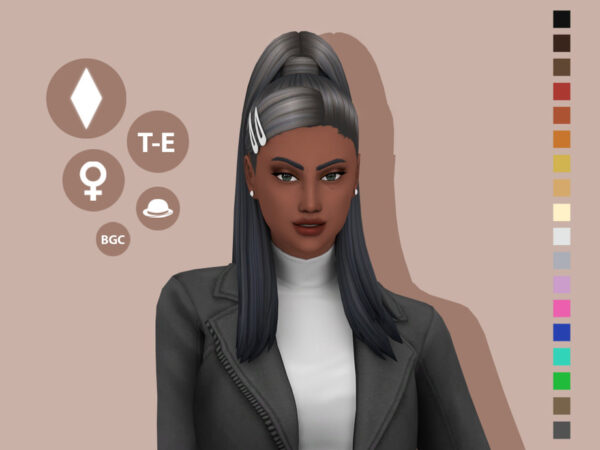 The Sims Resource: Butera Hairstyle by simcelebrity00 for Sims 4