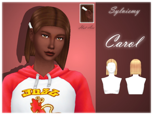 The Sims Resource: Carol Hairstyle Set by Sylviemy for Sims 4