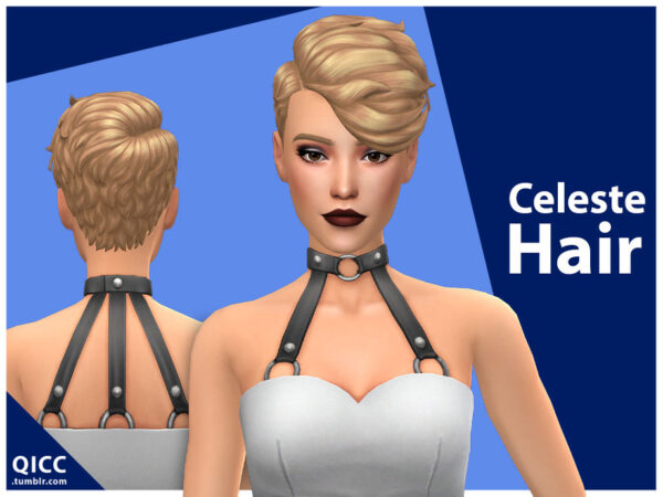 The Sims Resource: Celeste Hair by qicc for Sims 4