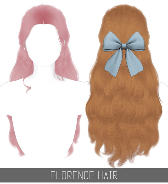 Simpliciaty: Florence Hair for Sims 4