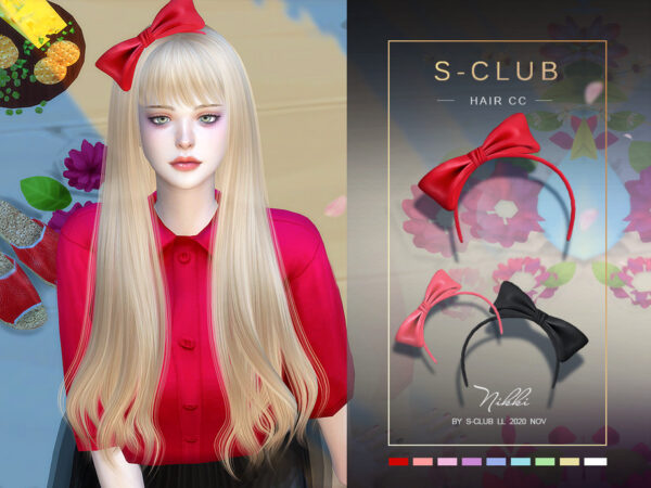 The Sims Resource: Hair CC 202015 by S Club for Sims 4