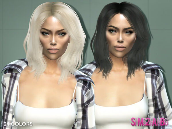 The Sims Resource: Hairstyle 6 Rita by sims2fanbg for Sims 4