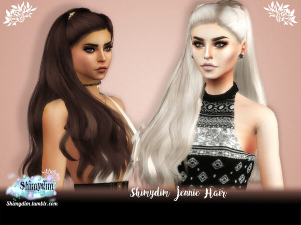 The Sims Resource: Jennie Hair by Shimydim for Sims 4