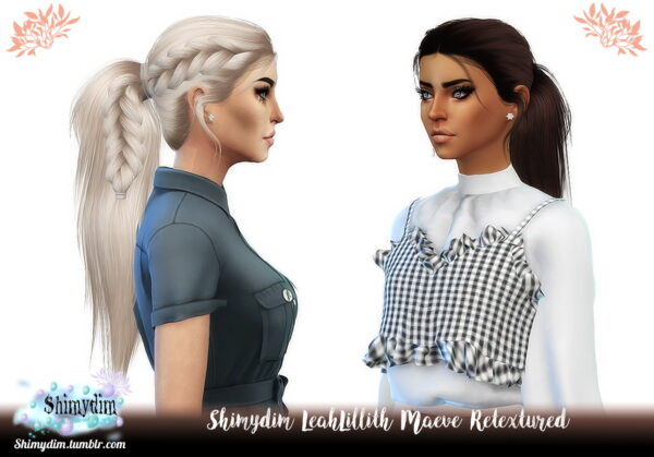 Shimydim: LeahLillith`s Maeve Hair Retextured for Sims 4