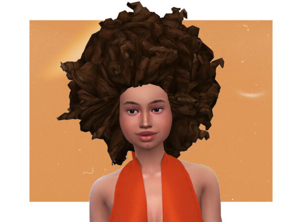 The Sims Resource: Lerato Afro by sageabara for Sims 4