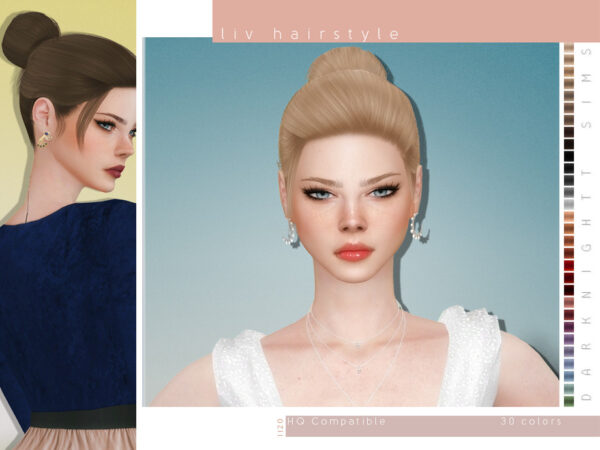 The Sims Resource: Liv Hairstyle by DarkNighTt for Sims 4