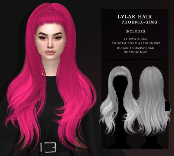 Phoenix Sims: Andrea and Lylac Hairs for Sims 4