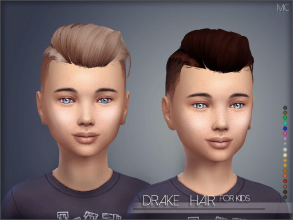 The Sims Resource: Drake Hair by Mathcope for Sims 4