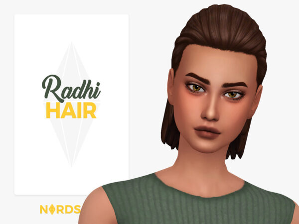 The Sims Resource: Radhi Hair by Nords for Sims 4