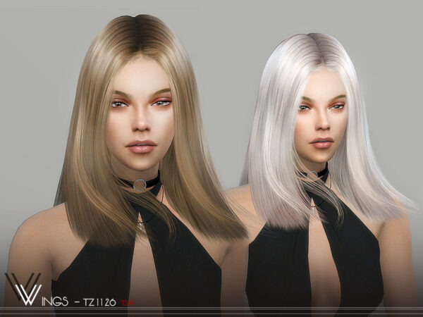 The Sims Resource: WINGS TZ1126 Hair for Sims 4