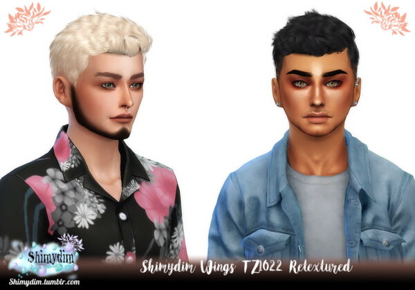 Shimydim: Wings TZ1022 Hair Retexture for Sims 4