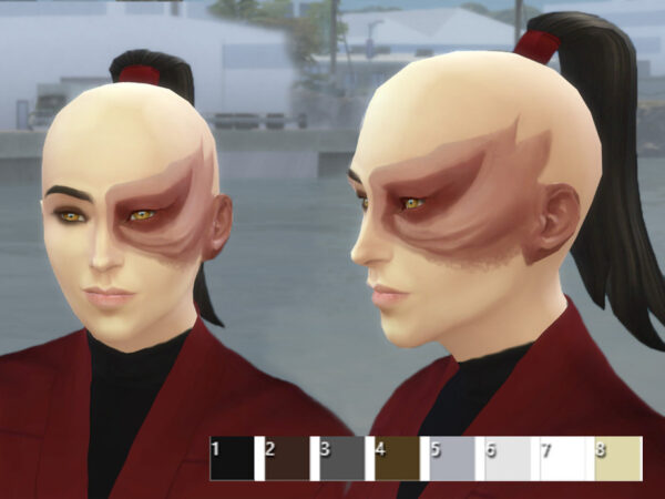The Sims Resource: Prince Zukos ponytail by Velouriah for Sims 4
