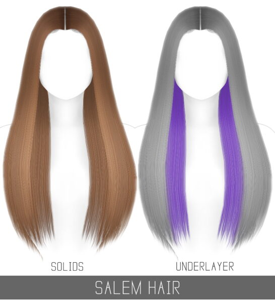 Simpliciaty: Salem Hairstyle for Sims 4