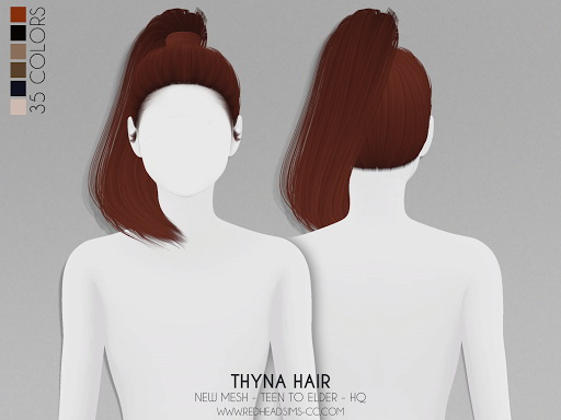 Coupure Electrique: Thyna Hairstyle for Sims 4