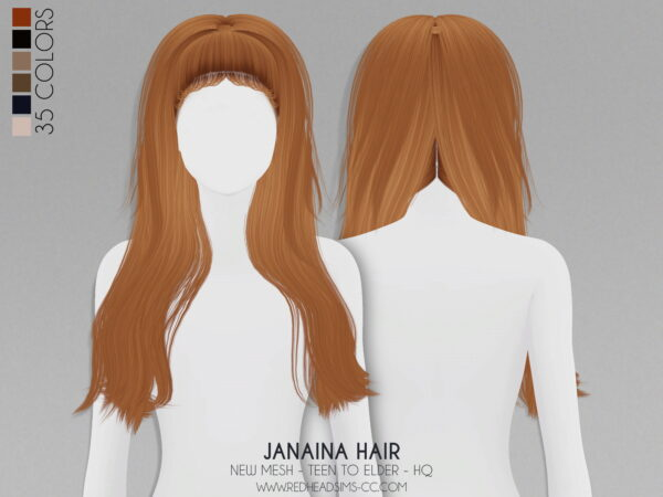Coupure Electrique: Janaina Hair Kids and Toddlers Version for Sims 4