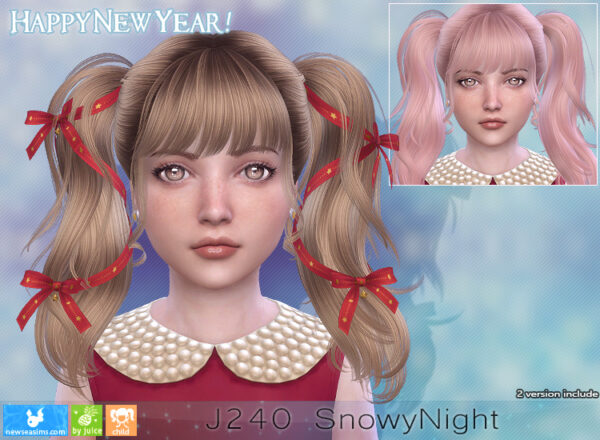 NewSea: J 240 SnowyNight Hairstyle for Sims 4