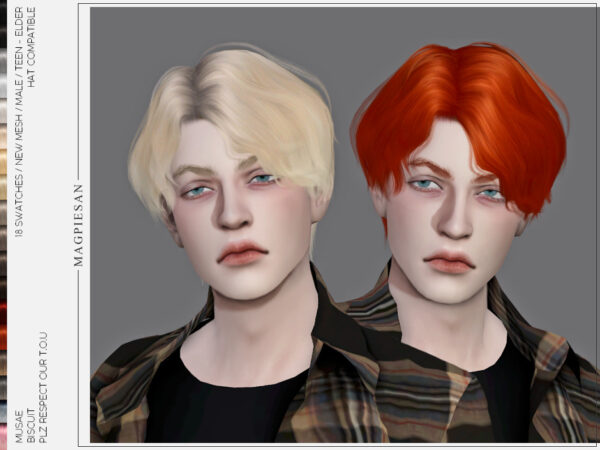 Effie: Hair Collection 2 for Sims 4