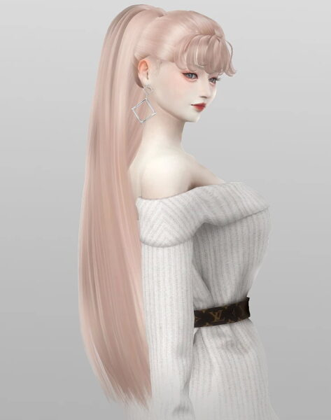Nilyn Sims 4: Whisky Hairstyle for Sims 4