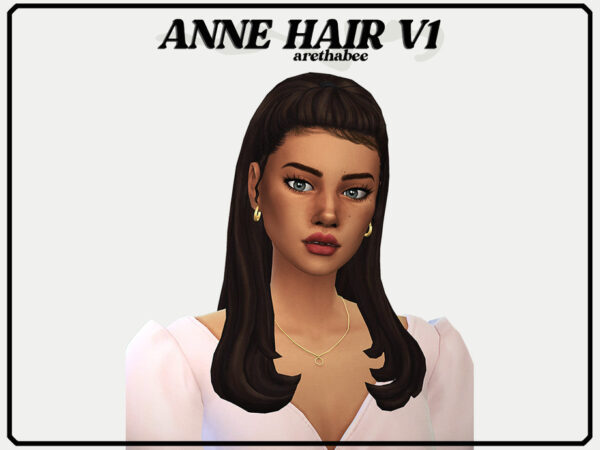 The Sims Resource: Anne Hair v1 by arethabee for Sims 4