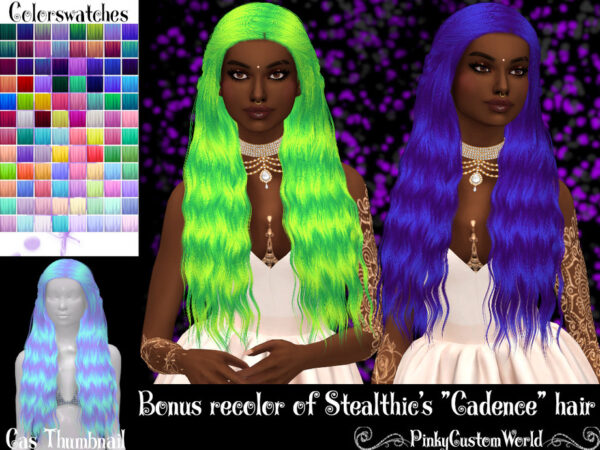 The Sims Resource: Bonus recolor of Stealthics Cadence hair byPinkyCustomWorld for Sims 4