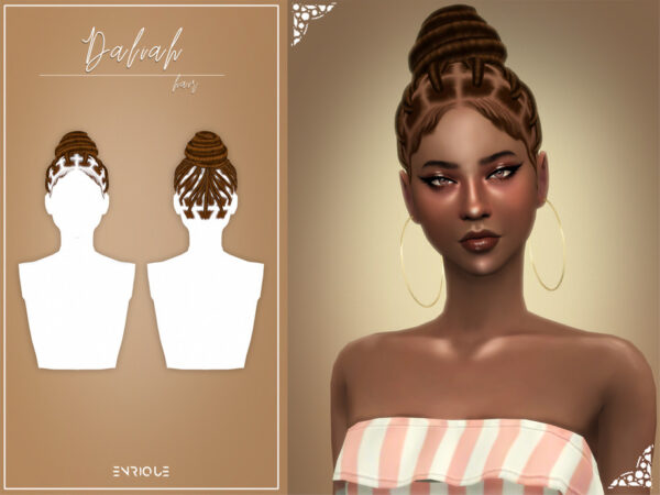 The Sims Resource: Daliah Hairstyle by EnriqueS4 for Sims 4