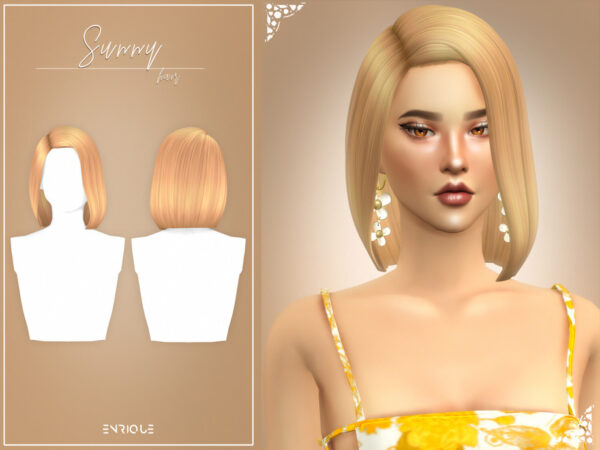 The Sims Resource: Sunny Hairstyle by EnriqueS4 for Sims 4
