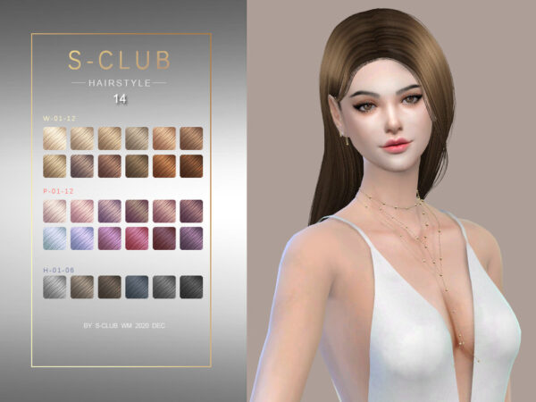 The Sims Resource: Hair 202014 by S Club for Sims 4