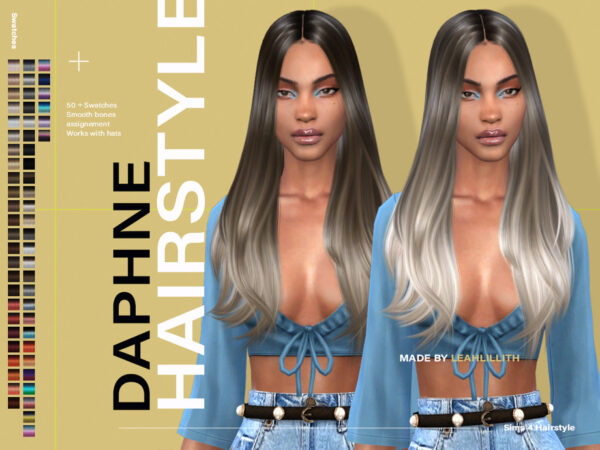 The Sims Resource: Daphne Hairstyle by LeahLillith for Sims 4