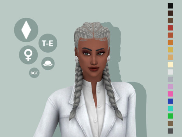 The Sims Resource: Saoirse Hairstyle by simcelebrity00 for Sims 4