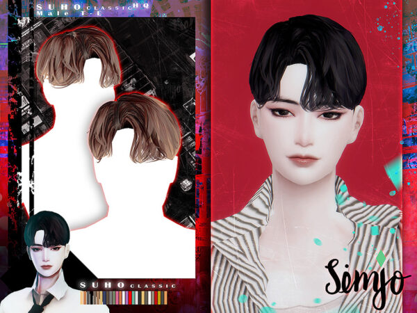The Sims Resource: Suho Classic Hair by KIMSimjo for Sims 4
