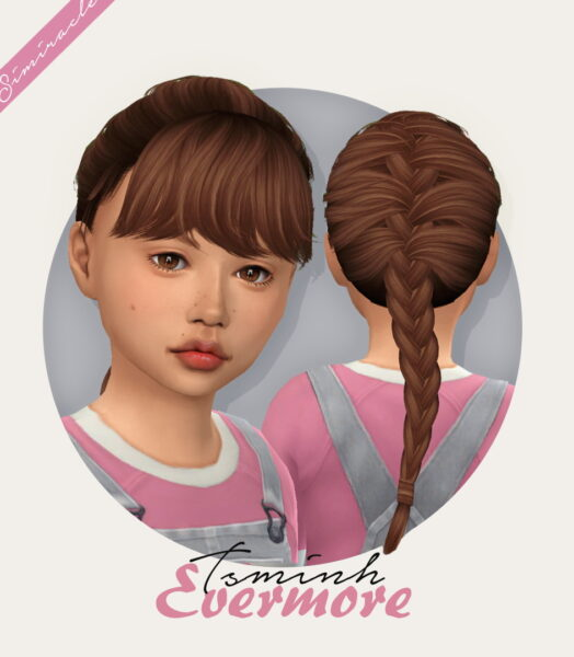 Simiracle: Tsminh`s Evermore Hair retextured for Sims 4