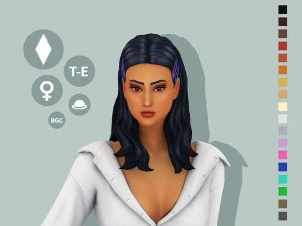 The Sims Resource: Vivian Hairstyle by simcelebrity00 for Sims 4