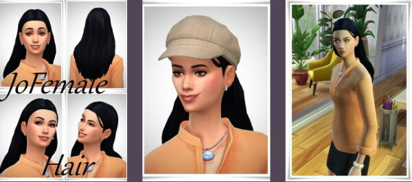 Birksches sims blog: Jo Hairstyle for Sims 4