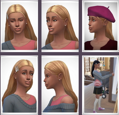 Birksches sims blog: Rana Hairstyle for Sims 4
