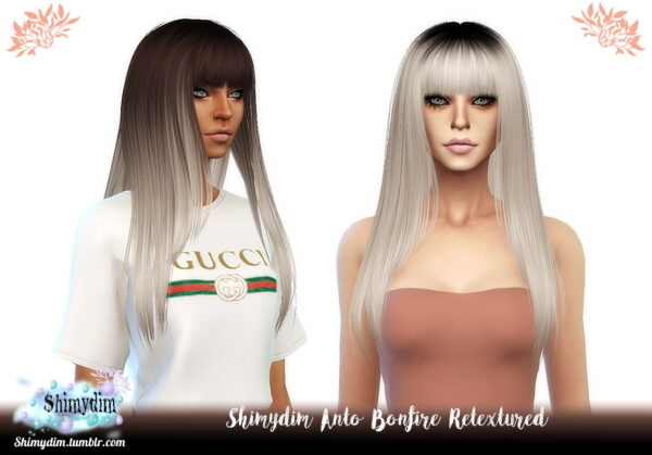 Shimydim: Anto`s Aphrodite, Bonfire and Galaxy Hairs Retextured for Sims 4