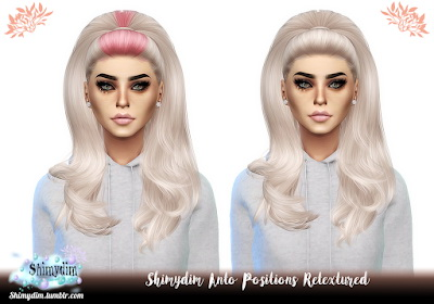 Shimydim: Anto`s Positions Hair Retextured for Sims 4