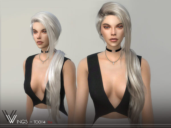 The Sims Resource: WINGS TO0114 hair for Sims 4