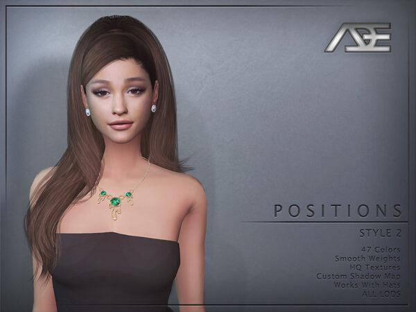 The Sims Resource: Positions Style 2 Hair by Ade Darma for Sims 4
